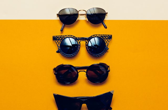 collage set stylish Sunglasses. Be in trend
